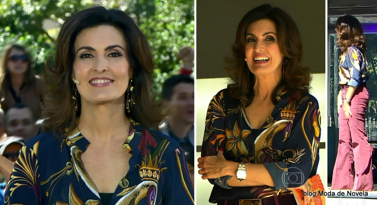 moda do programa Encontro - look da Fátima Bernardes