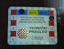 samoljepiva inspekcijska naljepnica tehničke ispravnosti vozila - vrijedila do kraja kolovoza 2012. godine