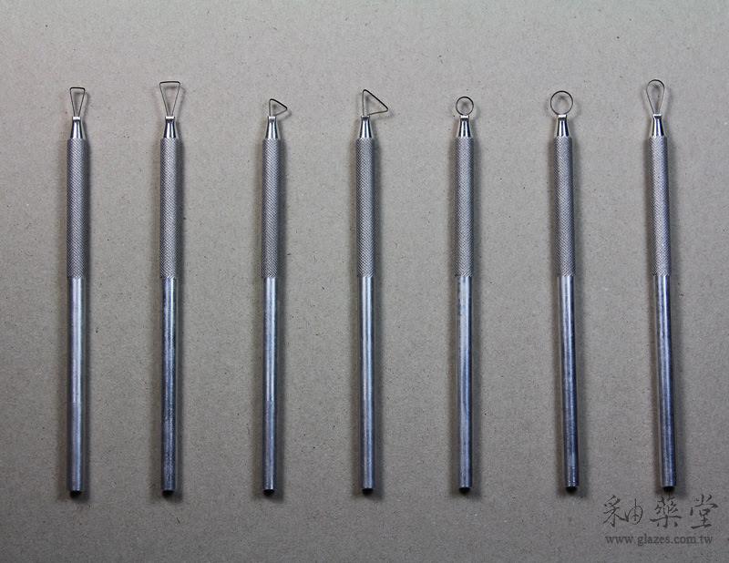 陶藝工具M1-00-A 鋁柄修坯刀(7支1套)