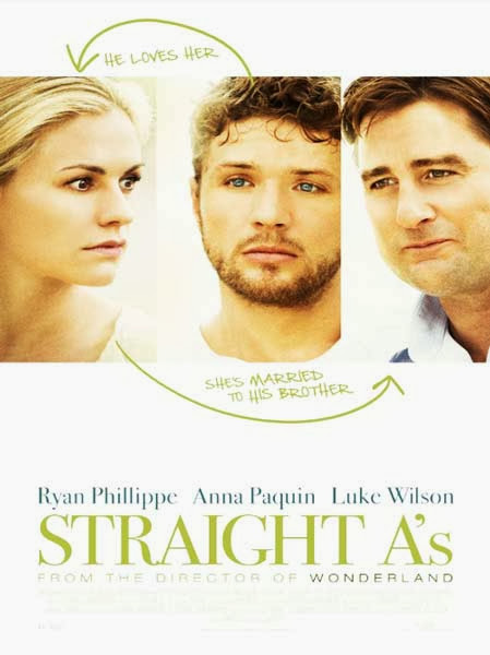 Poster Of English Movie Straight A's (2013) Free Download Full New Hollywood Movie Watch Online At Alldownloads4u.Com