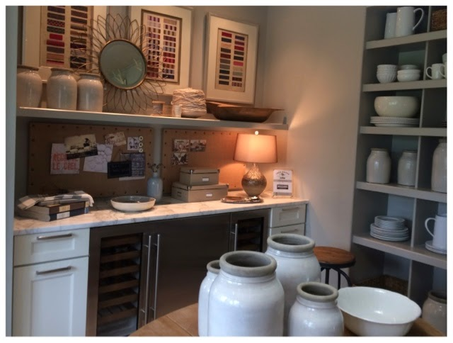 Clutter room off the kitchen.  2014 Southern Living Idea House in Palmetto Bluff, SC | The Lowcountry Lady