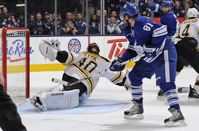 Leafs Phil Kessel scores on Tuukka Rask