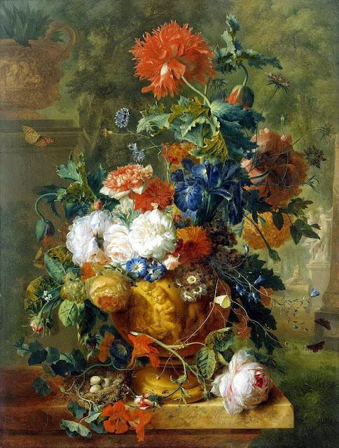 Jan van Huysum - Flowers 1722