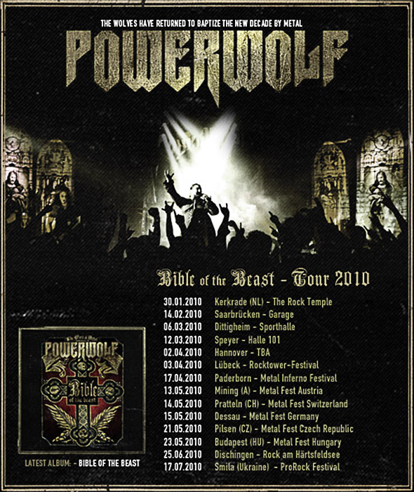 Powerwolf - Bible of the Beast Tour 2010 - Metal Carnival