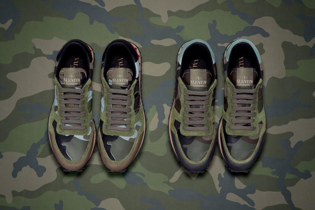 *Valentino 2013春夏軍事迷彩系列:麂皮鉚釘迷彩拼接鞋! 3