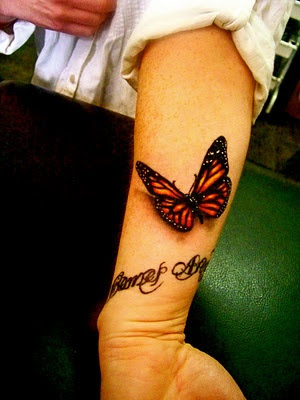 butterfly Tatttoo designs for hands