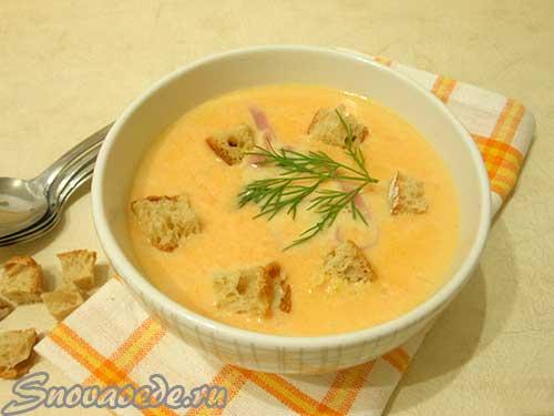 суп пюре морковный