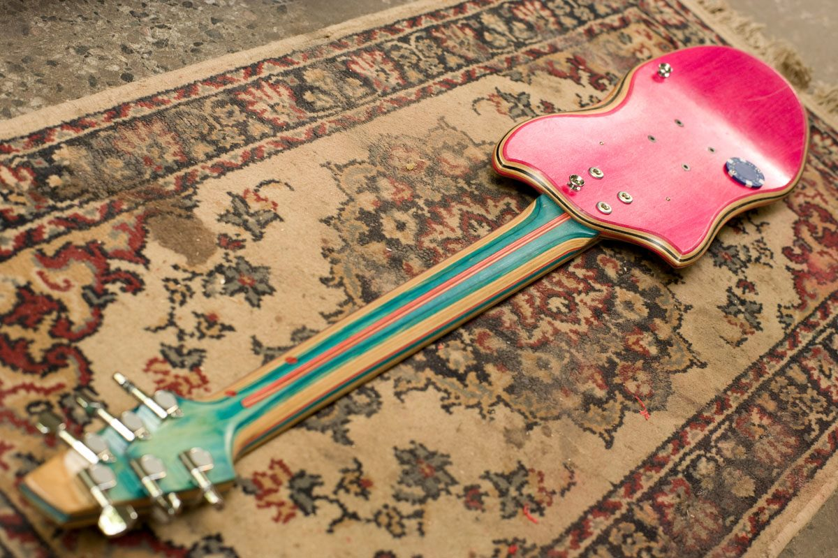 *Skate Guitar 回收再生:電音滑板吉他! 6