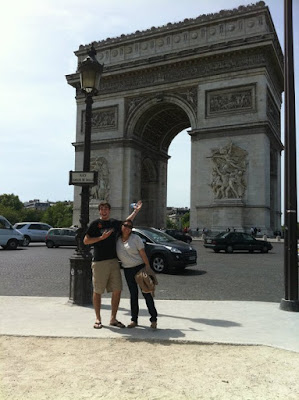 Arc de Triomphe in the middle of Paris