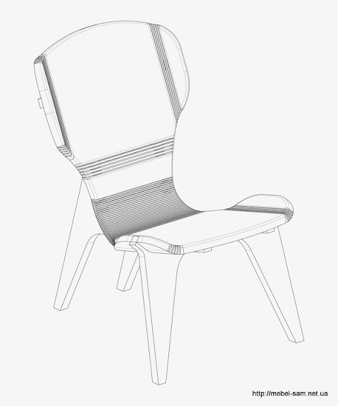 Кресло KerFchair, вид в контуре
