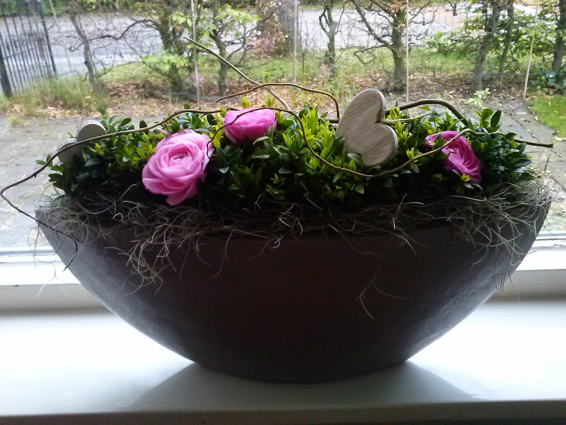 me-made flower arrangement for Easter