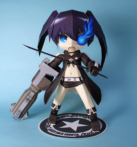 Black Rock Shooter Paper Model