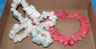 Packing Peanut and Pipe Cleaner play