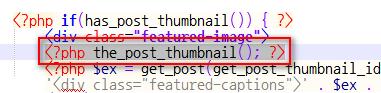 Notepad++에서 <\?php the_post_thumbnail(); ?> 검색 결과