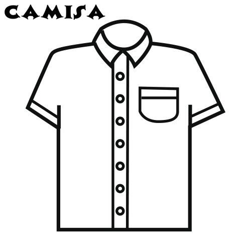 Dibujo de camisa para colorear - Imagui