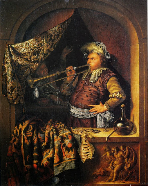 Willem van Mieris - The Trumpeter