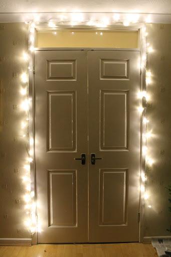 fairy lights, winter, christmas