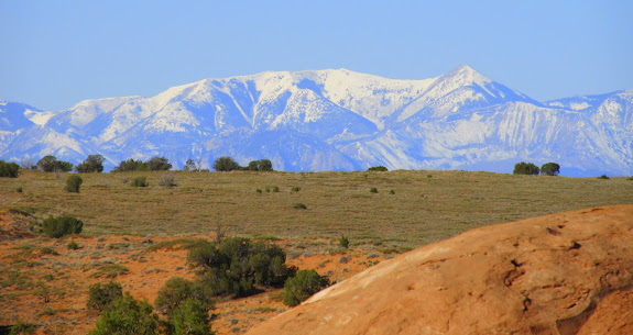 Beautiful snow-capped Henry Mountains