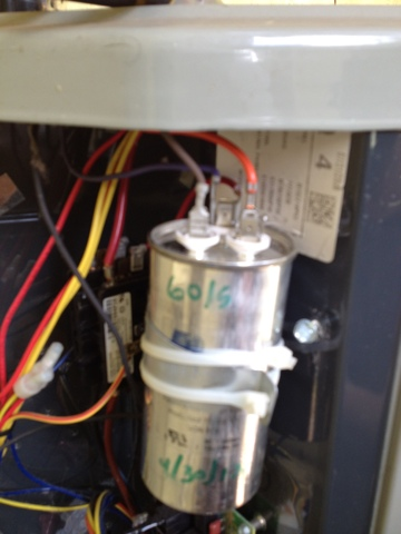 American Standard Air Conditionerac on inside a capacitor