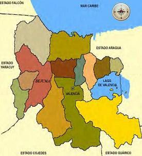 Mapa Municipio Bejuma