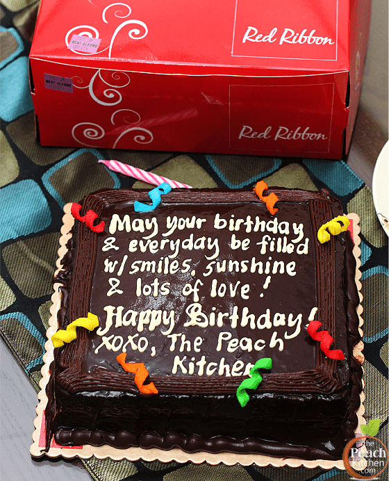 Enjoyable Red Ribbon Dedication Cakes Make Birthdays Sweeter A Giveaway Funny Birthday Cards Online Inifofree Goldxyz