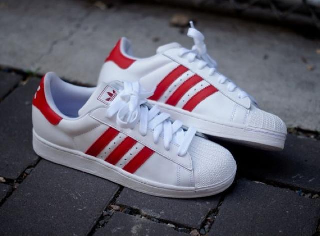 cbac0b46c071 adidas Originals Superstar II – White – Red