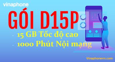 Gói D15P VinaPhone ưu đãi 15GB, 1000 phút gọi chỉ 79.000 đ