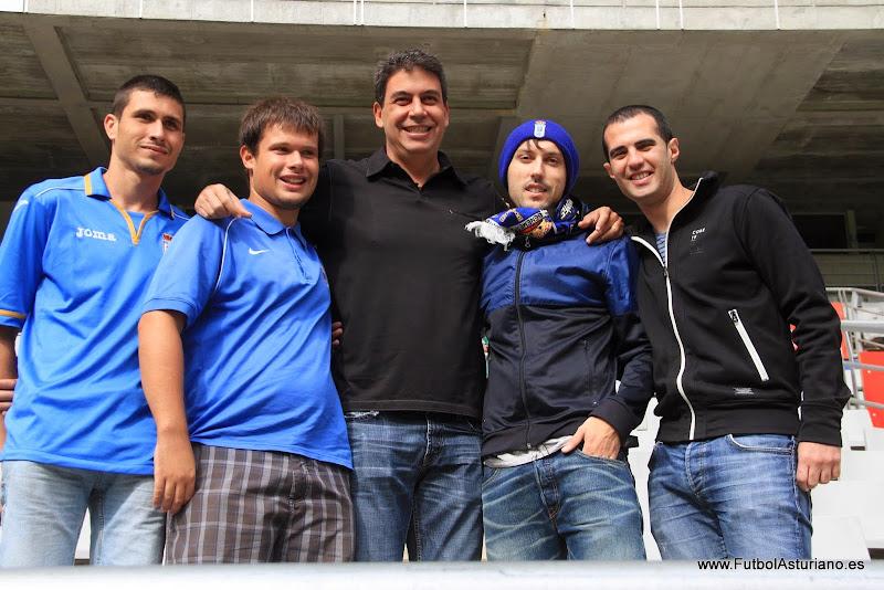 Arturo Elías visitó el entrenamiento del Real Oviedo