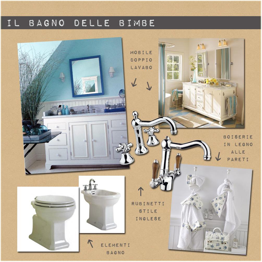 Progettare due bagni with arredamento stile inglese bianco for Arredamento in stile coloniale