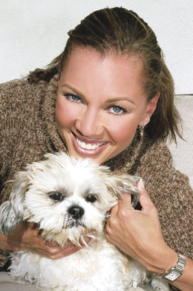 Vanessa Williams and her dog Sebastian