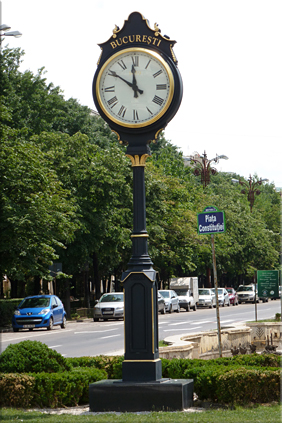 "Los ""costosos"" relojes de Bucarest"