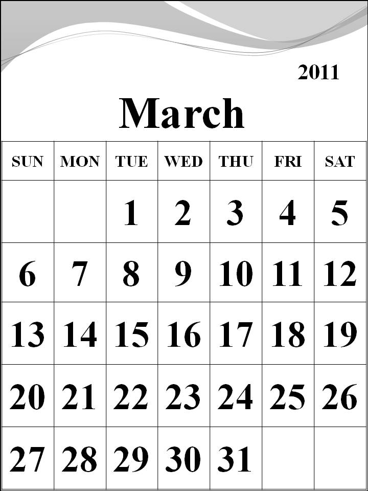 2011 calendar template printable. makeup march 2011 calendar
