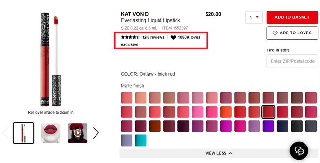 sonkem lì Kat Von D Everlasting Liquid