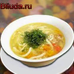 Рецепт куриный суп домашней лапшой