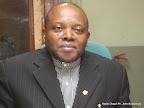 Abbé Apollinaire Malumalu, président de la Ceni au studio de Radio Okapi le 28/05/2014 à Kinshasa /Ph. John Bompengo
