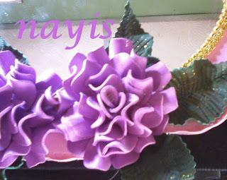 espejo con flores termoformadas en foami