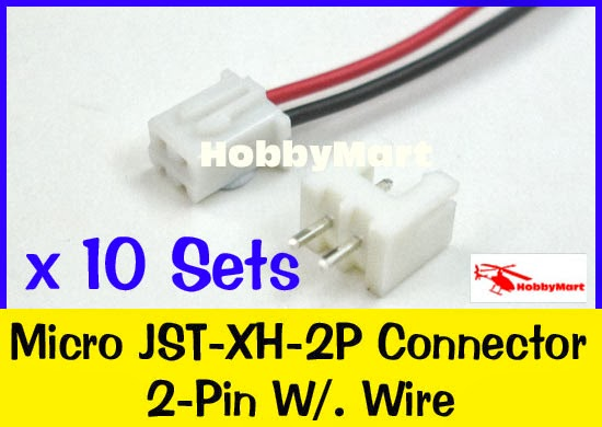 Jst Xh 2 5 2 Pin Female Connector With Wire L 300mm Amp