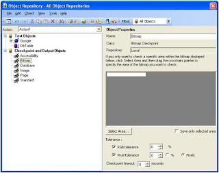 QTP Bitmap Checkpoint