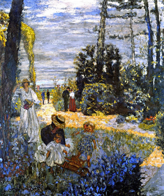 Édouard Vuillard - The Terrace at Vasouy. The Garden