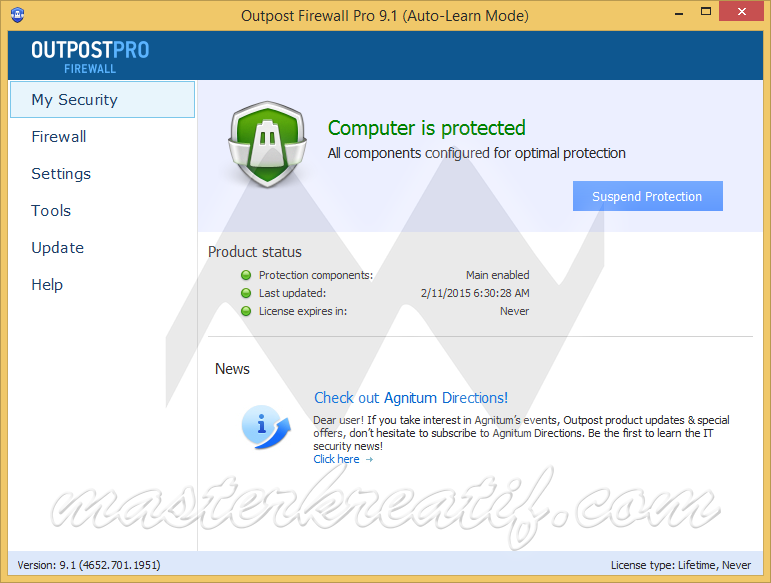 Outpost Firewall Pro 9.1