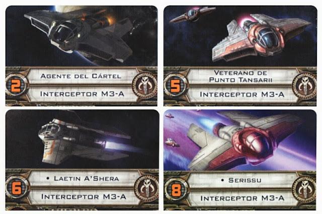 Interceptor M3-A cartas de juego