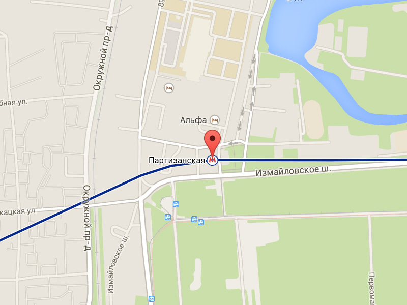 Станция метро Партизанская как добраться