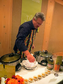 Cookwell & Co. Green Chili Stew with Turkey was showcased- you just have to add beans and the protein of your choice to the Green Chili Stew, in this case he added Turkey