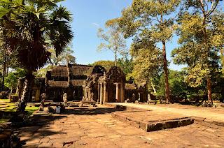 Kompleks świątynny Banteay Kdei wybudowany z Dżajawarmana VII, XII-XII wiek