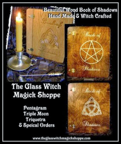 Wood Book Of Shadows Hand Made And Witch Crafted Pentagram Or Triquetra 65 00