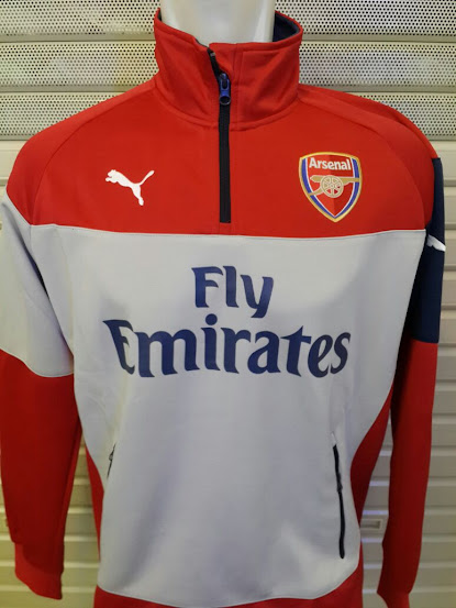 Jual Sweater Arsenal Merah Abu-Abu 2014-2015