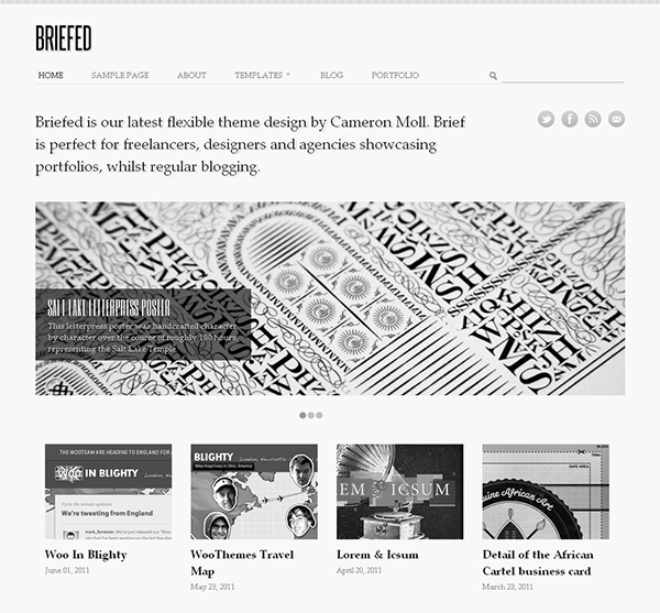 Briefed Flexible WordPress Theme