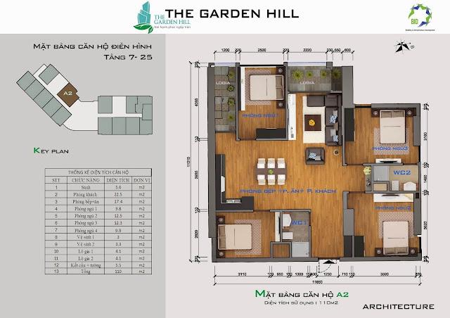 Căn A2 tầng 7 đến 25 Garden Hill - 99 Trần Bình