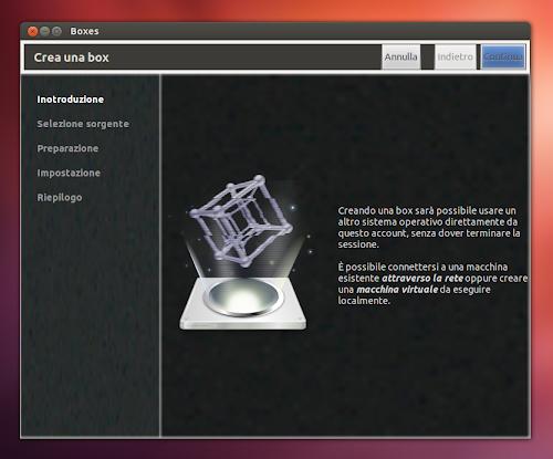 GNOME Boxes su Ubuntu 12.10