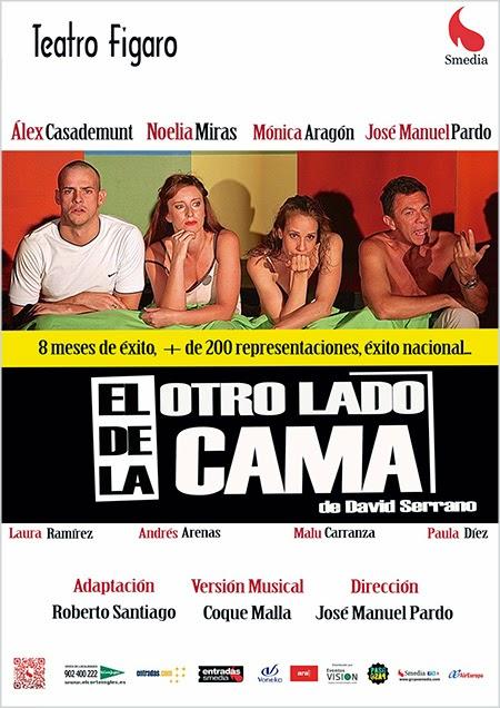 'El otro lado de la cama' después de 8 meses de éxito se traslada al Teatro Fígaro